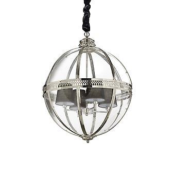 ideell lux verden - 4 lys sfærisk tak anheng krom