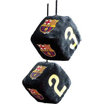 Spiegelaufhänger WÜRFEL FC Barcelona 6 x 6 x 6 cm schwarz
