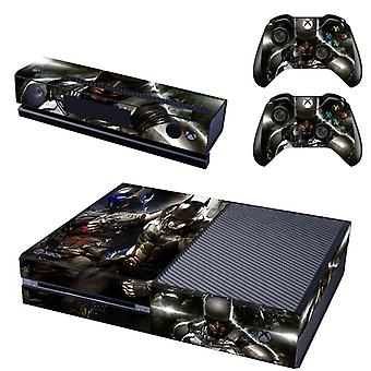 REYTID Console Skin / Sticker + 2 x Controller Decals & Kinect Wrap Compatible with Microsoft Xbox One - Full Set - The Batman