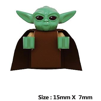 Baby Yoda With Cot Mandalorian Han Solo Yoda Luke Darth Vader Maul Revan Building Blocks Bricks Toys For Children