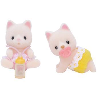 Sylvanian familier silke kat tvillinger