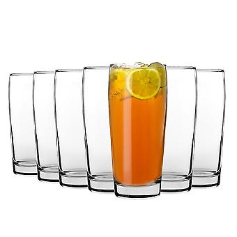 LAV 6 pieza Bardi clásico Willi Becher cerveza vidrio set - estilo alemán artesanía cerveza Ale gafas - claro - 370ml