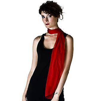 Écharpe de mousseline rouge de planète de cravates