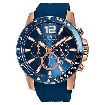Lorus Mens Sports Chronograph with Carbonised Titanium Coated Rose Gold Case