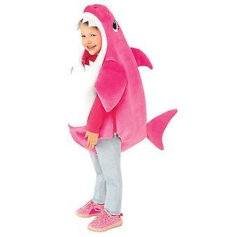 Mama Shark Deluxe Pink Baby Shark Pinkfong Peuter Meisjes Kostuum met geluid 2-4