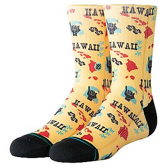 Stance Kids Hawaii Chain Oblow Socks - Yellow