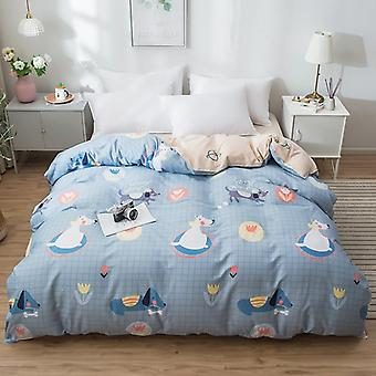 dual-sided Duvet Cover  soft Comfortable Cotton Printing Comforter -textiles Quilt Cover set 6