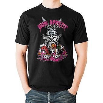 Looney Tunes Unisex Adultos Bun Appetit Print Camiseta