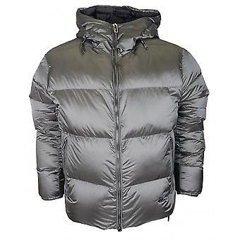 Emporio Armani Down Bomber Silver Grey Jacket