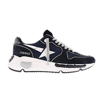 Golden Goose Running Nylon Leather Star Blue GMF00126F00040850522 shoe