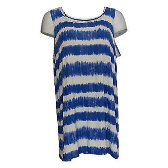 LOGO Layers par Lori Goldstein Women-apos;s Top Stripe Tie-Dye Tank Blue A351081