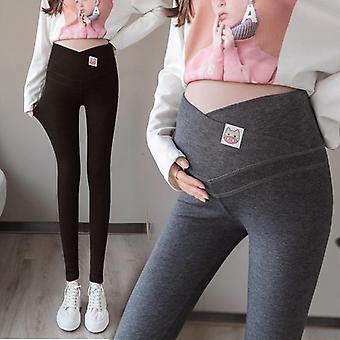Across V Low Waist Maternity Leggings, Cartoon Knitted Cotton Clothes,