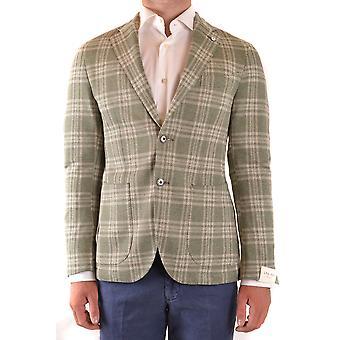 L.b.m. Ezbc215028 Men's Green Linen Blazer
