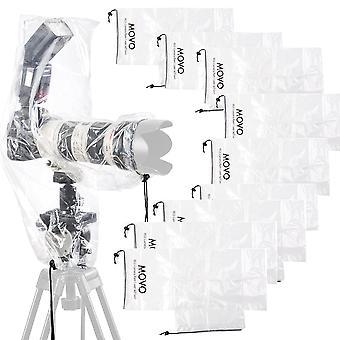 Movo (10 pack rc2 klart regnskydd för DSLR kamera, blixt och objektiv upp till 46cm lång för kamera+objektiv+