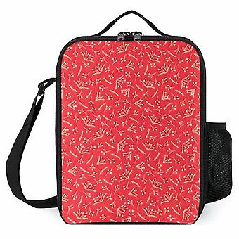 Christmas Branches And Berries Lunch Bags Reusable Lunch Cooler Bags