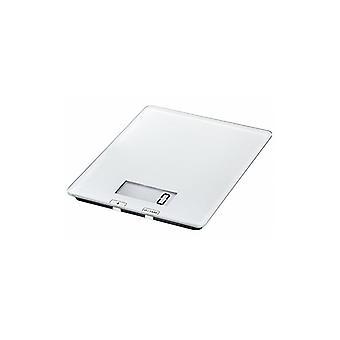Digital kjøkken skala | Hvit skala for matlaging og måling | Digital skjerm | Elegant slank design | Opptil 5 kg