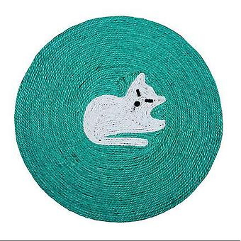 Cat Scratch Pad Carpet Cat Scratcher Cute Round Dish New Pet Supplies