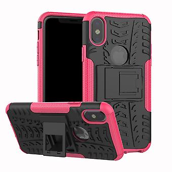 Pro Shockproof Siliconen Kickstand Armor Phone Case Cover
