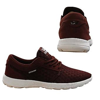 Supra Hammer Run Lace Up Mens Casual Running Trainers Burgundy 08128 211 B69E