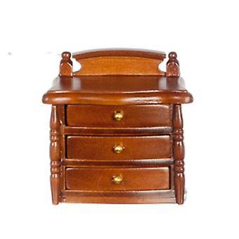 dukker huset valnøtt tre nattbord bryst nattbord miniatyr soverom møbler