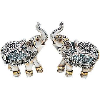 Steel Blue Elephant Mini Ornament