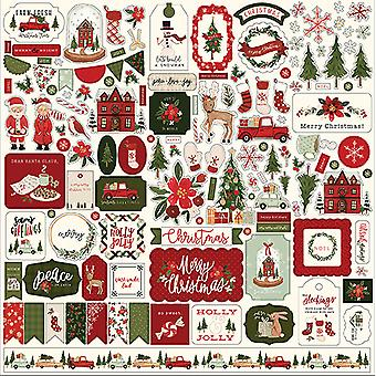 Carta Bella Hei Joulu 12x12 Tuuman Elementti Tarra