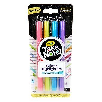 Beachten Sie Glitter Highlighter, 4 Zählen