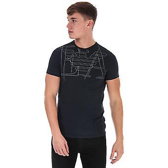 Men's Armani EA Eagle Logo T-Shirt in Blue