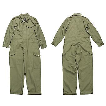 Multi-pocket Work Coverall Mens Safari Style, Cargo Jumpsuit, Worker Uniform