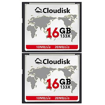 Cloudisk 2x cf card 16gb compact flash 20mb/s or faster 133x memory card performance for vintage dig