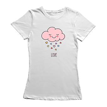 Valentine's Day Hand Drawn Pink Love Cloud T-Shirt By Shutterstock