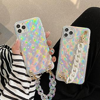 iPhone 12 Pro Max Shell 3D glitter ankle strap neon