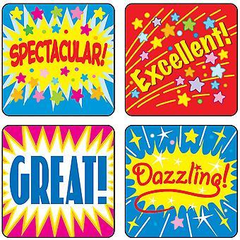 Autocollants de motivation mots positifs, Pack de 120