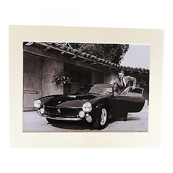 Larrini Mcqueen With His 250 Lusso A4 Mounted Photo