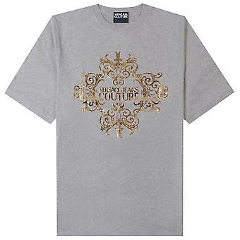 Versace jeans Couture gull logo T-skjorte