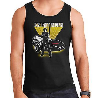 Knight Rider Michael Knight Gul Glow Men's Väst