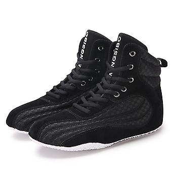 Men Super Quality Boxing Wrestling Fighting Weightlifting Squat Gym Shoes Male
