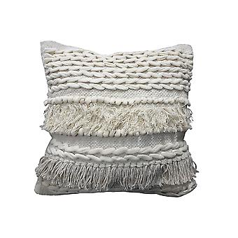 Spura Home Comfortable Braided Design Moroccan Style Oreillers