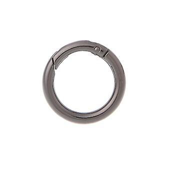 Στρογγυλός κύκλος δαχτυλιδιών, θραύση άνοιξη, πόρπη τσαντών αγκίστρων μπρελόκ για την τσάντα & το πορτοφόλι