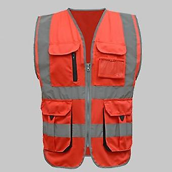 Men Woman High Visibility Safety Work Vest