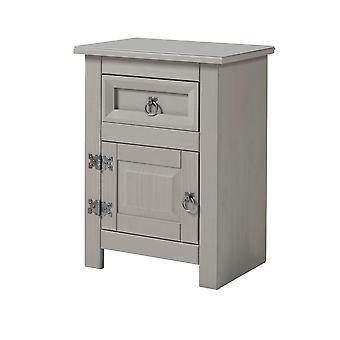 Cortini 1 porte, 1 armoire de chevet de tiroir avec dessus de glas