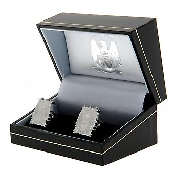 Manchester City F.C. Crest Stainless Steel Cufflinks