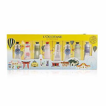Provence runt om i världen handkräm kit av 8: (2x sheasmör + 1x ros, körsbärsblomma, lavendel, pion, mandel, verbena) 30ml / 1oz 260416 8x30ml / 1oz