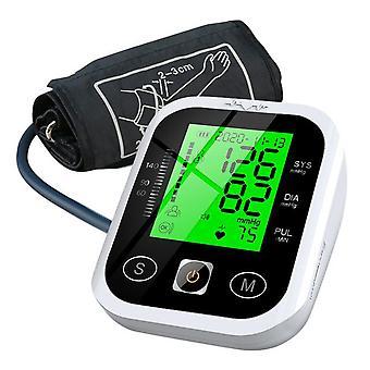 الذراع العلوي sphygmomanometer lcd عرض ثلاثي الألوان الإضاءة الإلكترونية طنون التلقائي تخزين البيانات رصد ضغط الدم