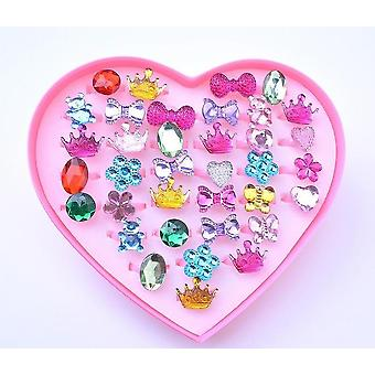 Kids Makeup Jewelry Rings Toy