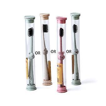 Brosse à dents enfants Cartoon Handle Oral Bamboo Charcoal Brush (aléatoire)
