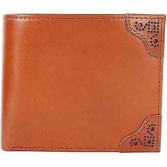 Fred Perry Brogue Detail Billfold & Coin Wallet Leather -L7323-448