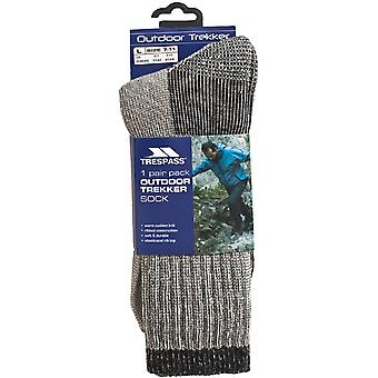 Trespass Herren Kinderwagen Outdoor Walking Wandern Marino Wolle Socken - grau - 7-11 UK