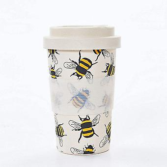 DZK Reusable Bamboo Coffee Cup (Neutral Bees)