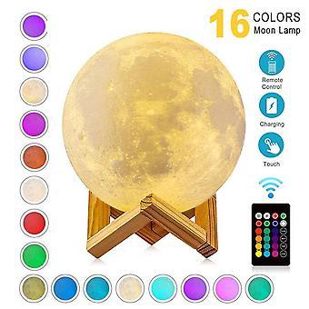 Zk20 led nachtlampje 3d print maanlamp oplaadbare kleurverandering 3d licht touch maanlamp kinderlichten nachtlamp voor thuis